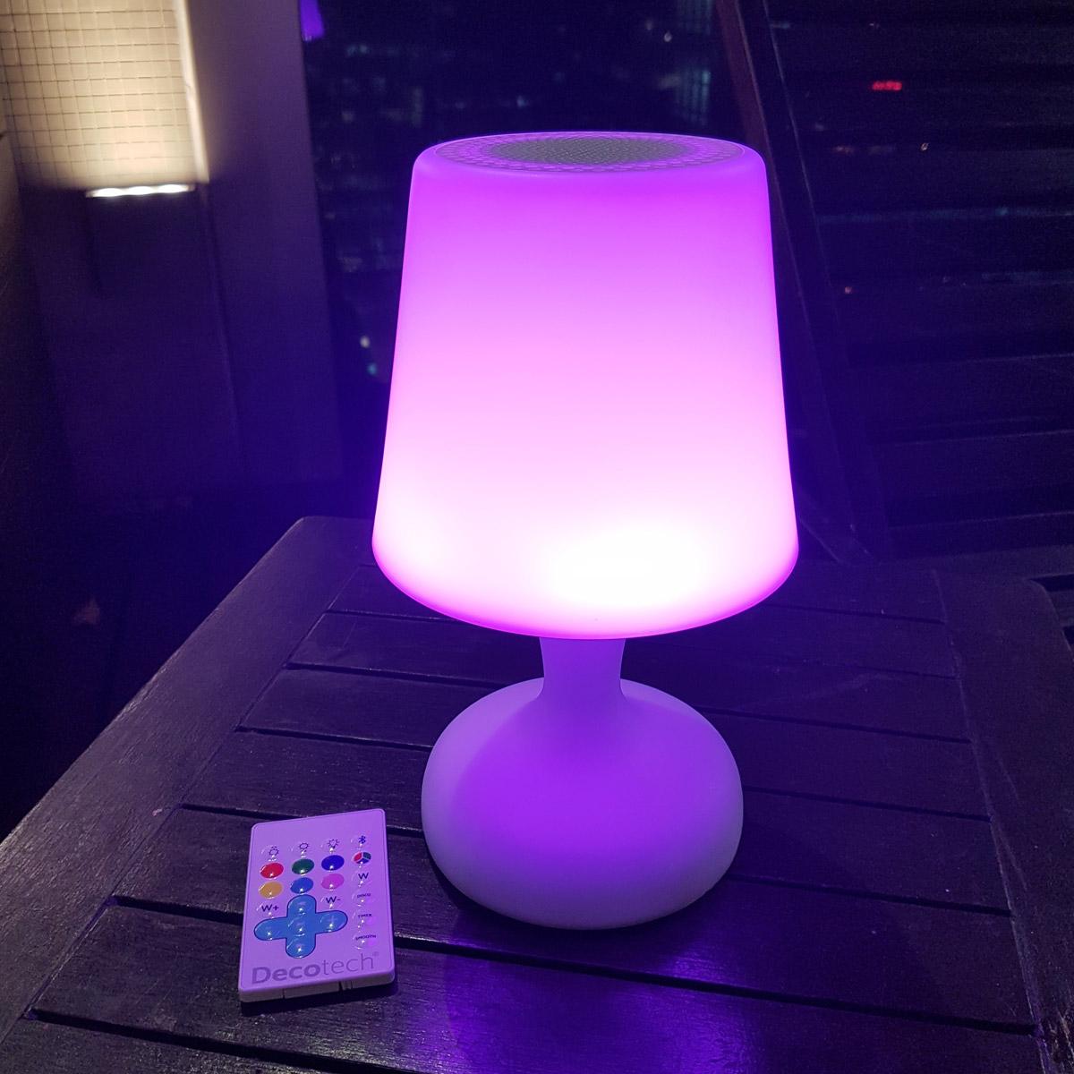 stimmungslampen led lampe mit farbe und ton bluetooth mit einer fernbedienung. Black Bedroom Furniture Sets. Home Design Ideas
