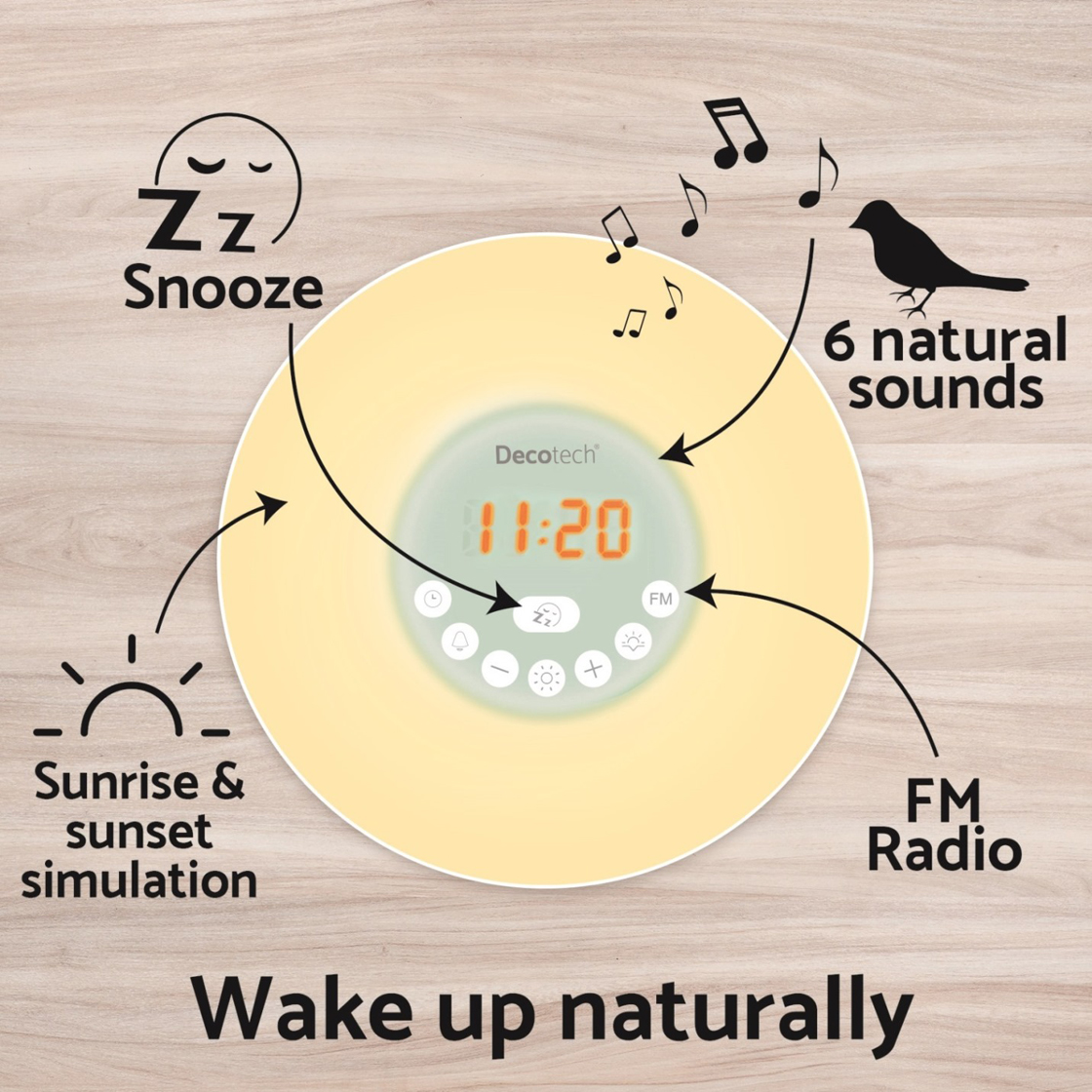 Clocks : Sunrise colour alarm clock
